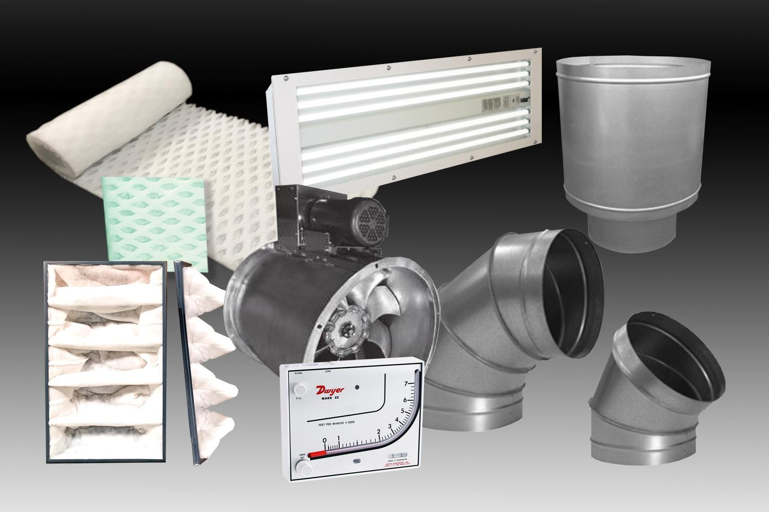 Industrial Paint Booth Parts and Filters